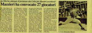 Convocazione Italia Wbc 2009