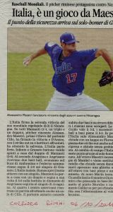 Corriere Rimini 6 Ottobre 2011