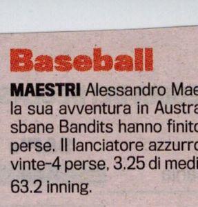 Gazzetta Gennaio 2012