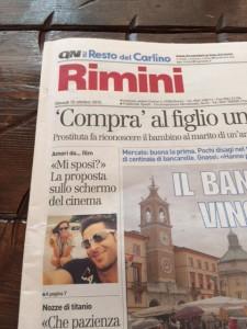 Prima pagina Carlino