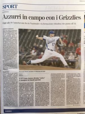 Italia Baseball A Torino Per Amichevole