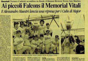 Articolo Falcons Giugno 2009