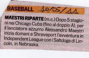 Gazzetta 10 Maggio 2011