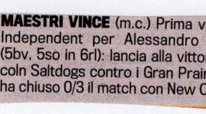 Gazzetta 15 Maggio 2011
